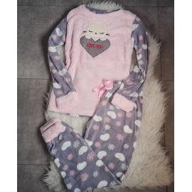 Pijama de dama Love You roz