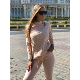 Trening tricot Delight Roz pudra