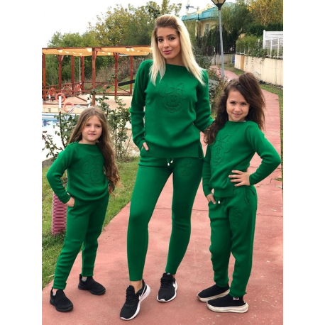Set Trening tricot Mama-Fiica Minnie verde