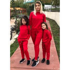 Set Trening tricot Mama-Fiica Minnie rosu