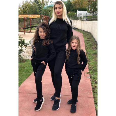 Set Trening tricot Mama-Fiica Minnie negru