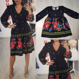 Set rochii Mama-Fiica cu model traditional Ana negru