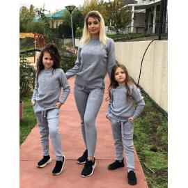 Set Trening tricot Mama-Fiica Minnie gri