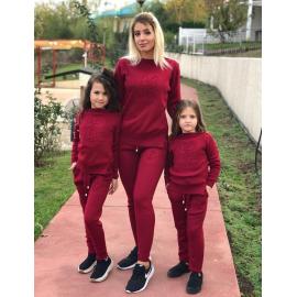 Set Trening tricot Mama-Fiica Minnie bordo