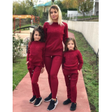 Set Trening tricot Mama-Fiica Minnie bordo