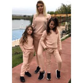 Set Trening tricot Mama-Fiica Minnie roz pal