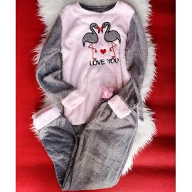 Pijama de dama Love you gri