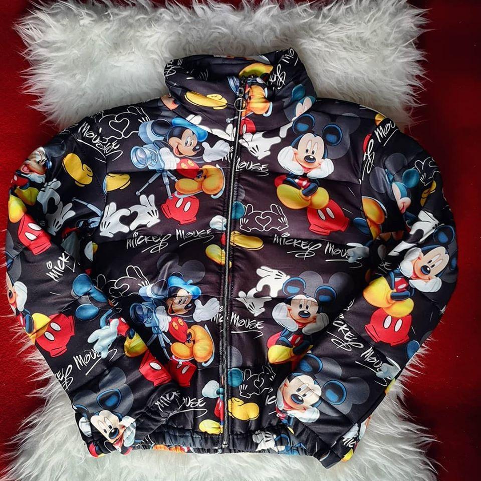 Geaca dama cu model Mickey Mouse