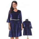 Set Rochii Mama-Fiica Velvet Albastru