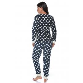 Pijama de dama Love You bleumarin