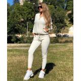 Trening din tricot Alessia Cream