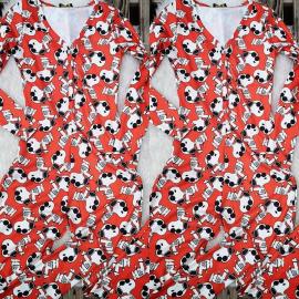 Pijama dama tip salopeta Snoopy