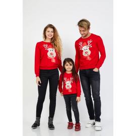 Set Bluze Rudolf Family rosu