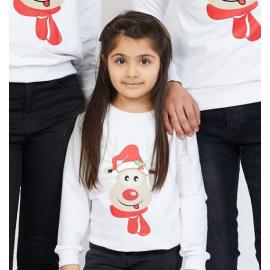 Bluza copil Rudolf alb