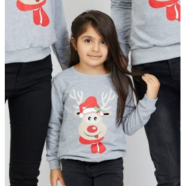 Bluza copil Rudolf gri
