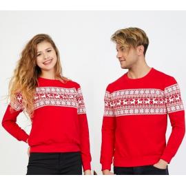 Set bluze pentru El si Ea Winter rosu