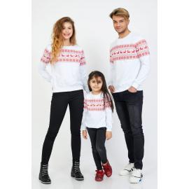 Set Bluze Winter Family Alb