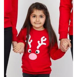Bluza copil Reindeer rosu