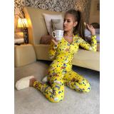 Pijama dama tip salopeta Spongebob
