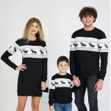 Set Bluze cu motive de iarna Family negru