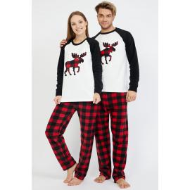 Set pijamale pentru El si Ea cu Cerb