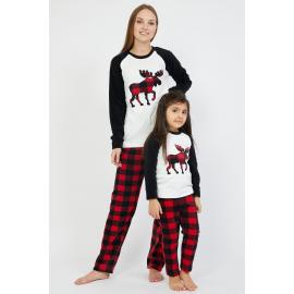 Set pijamale Mama-Fiica cu Cerb