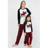 Set pijamale Mama-Copil cu Cerb