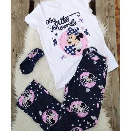 Pijama dama Minnie cute bleumarin
