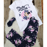 Pijama dama Minnie cute bleumarin