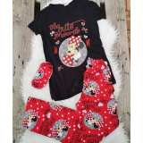 Pijama dama Minnie cute negru