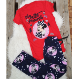 Pijama dama Minnie cute rosu