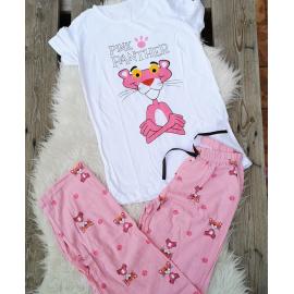 Pijama dama Pink Panther alb