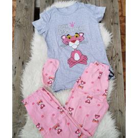Pijama dama Pink Panther gri