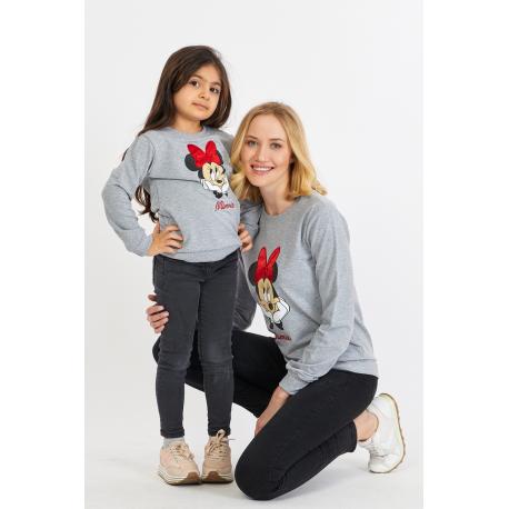 Set bluze Mama-Fiica Minnie Gri