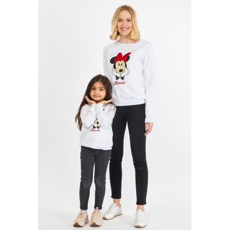 Set bluze Mama-Fiica Minnie Alb