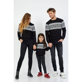 Set Bluze Family Winter Negru