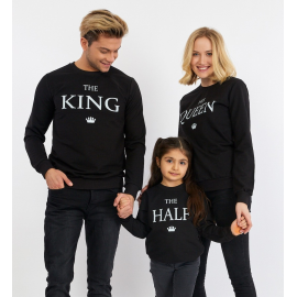 Set Bluze Family The King Negru