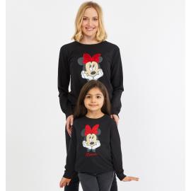 Set bluze Mama-Fiica Minnie Negru
