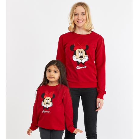 Set bluze Mama-Fiica Minnie Rosu