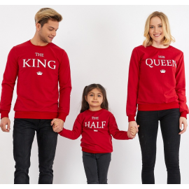 Set Bluze Family The King Rosu