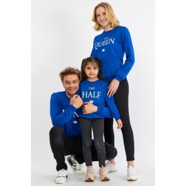 Set Bluze Family The King Albastru