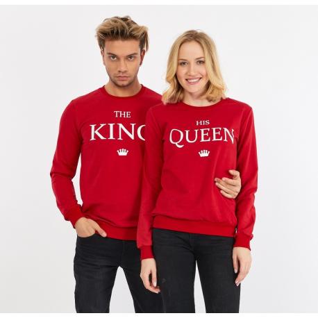 Set bluze pentru El si Ea The King Rosu