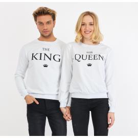 Set bluze pentru El si Ea The King Alb