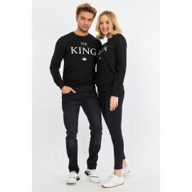 Set bluze pentru El si Ea The King Negru