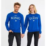 Set bluze pentru El si Ea The King Albastru