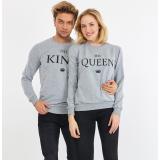 Set bluze pentru El si Ea The King Gri