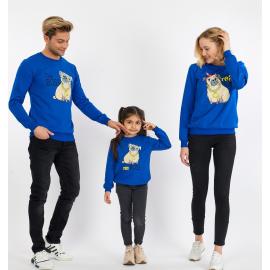Set Bluze Family The Boss Albastru