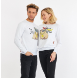 Set bluze pentru El si Ea The Boss alb