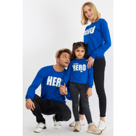 Set Bluze Family Hero Albastru