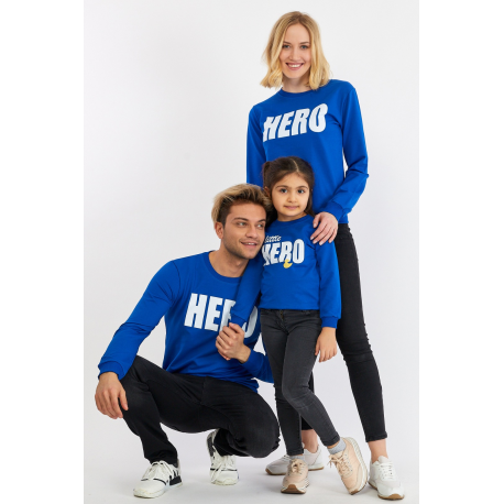 Set Bluze Family Hero Albastru
